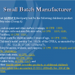 2. Third-Party Testing Required by  Small Batch Manufacturers/Importers